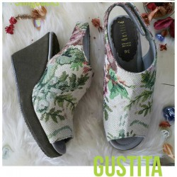 Slingbacks - Silk Green - รองเท้า Gustita Luxury Comfort
