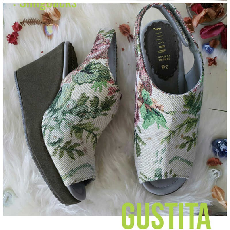 Slingbacks - Silk Green - Gustita Luxury Comfort Shoes