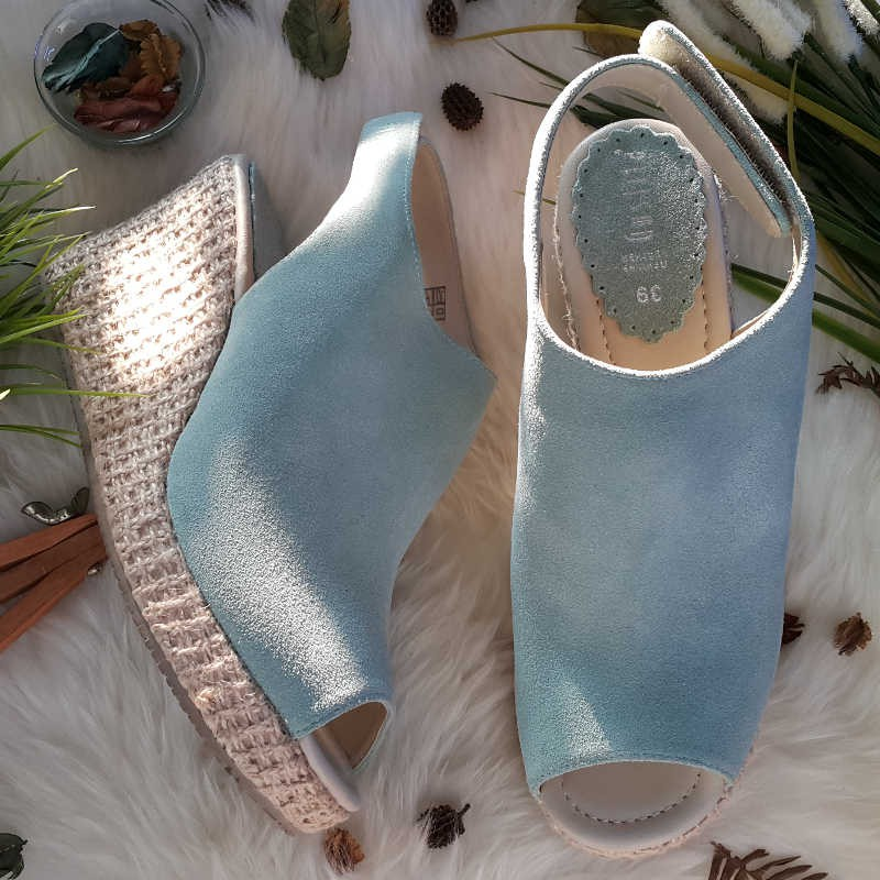 Slingbacks Smooth - Mint - Gustita Luxury Comfort Shoes