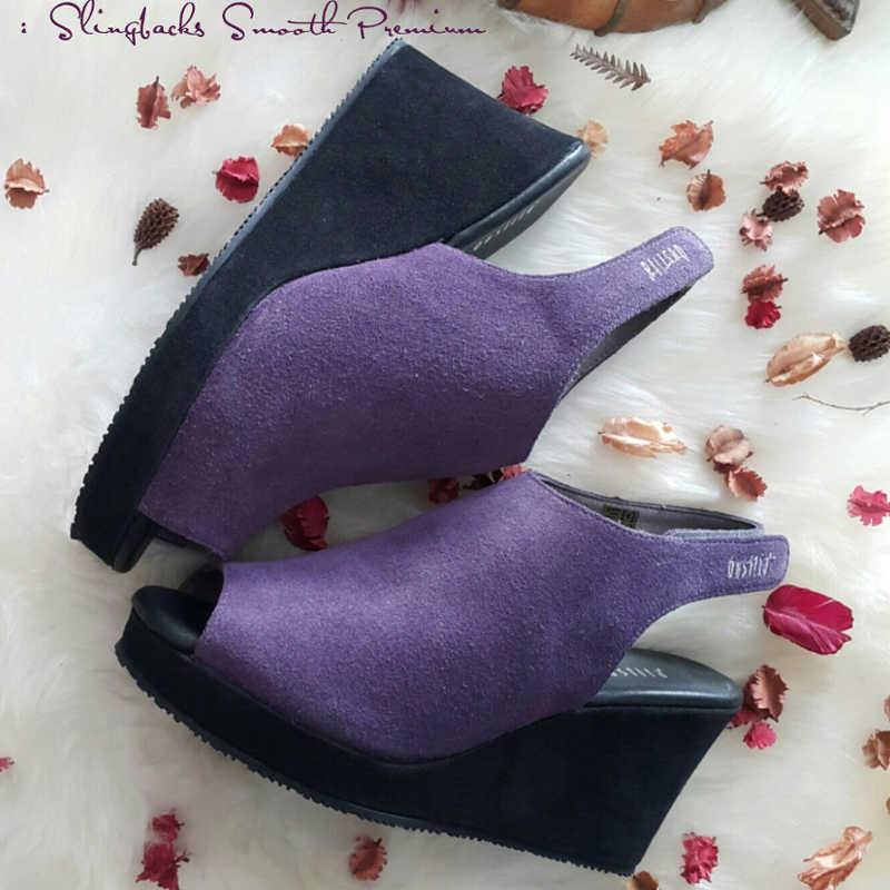 Slingbacks Smooth Premium - Grape - Gustita Luxury Comfort Shoes