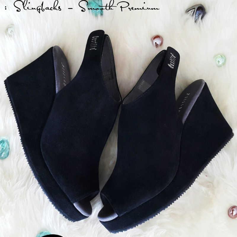 lingbacks Smooth Premium - Jet Black - Gustita Luxury Comfort Shoes