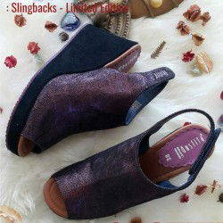 Slingbacks Limited Edition - Stone Grape - Gustita Luxury Comfort Shoes