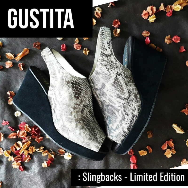 Slingbacks Limited Edition - Python - รองเท้า Gustita Luxury Comfort