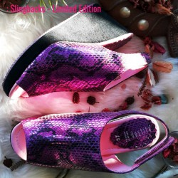 Slingbacks Limited Edition - Orchid Gritter - Gustita Luxury Comfort Shoes